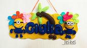 banner, cameretta, decorazione bambini, bambine, nome per camera