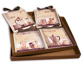 IDEA REGALO SET QUADRETTI SHABBY CHIC COUNTRY ARREDAMENTI CUCINA 15x15 ART sr14