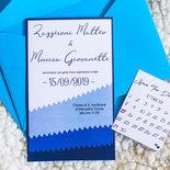 partecipazione matrimonio, inviti matrimonio, in blu