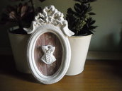 Cornice 3d in polvere ceramica con bustino   home decor