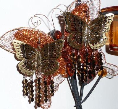 orecchini farfalle luminose