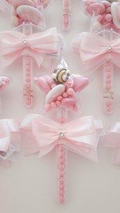 Bacchetta magica - stellina - battesimo - compleanno magia -  bomboniere originali - confetti decorati - bomboniere nascita