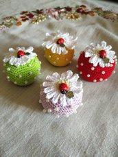 Cupcake petaloso Amigurumi