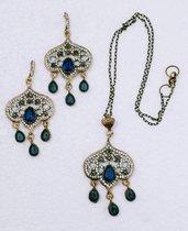 PARURE collana + orecchini - ORIENTE (lavoro di restauro)