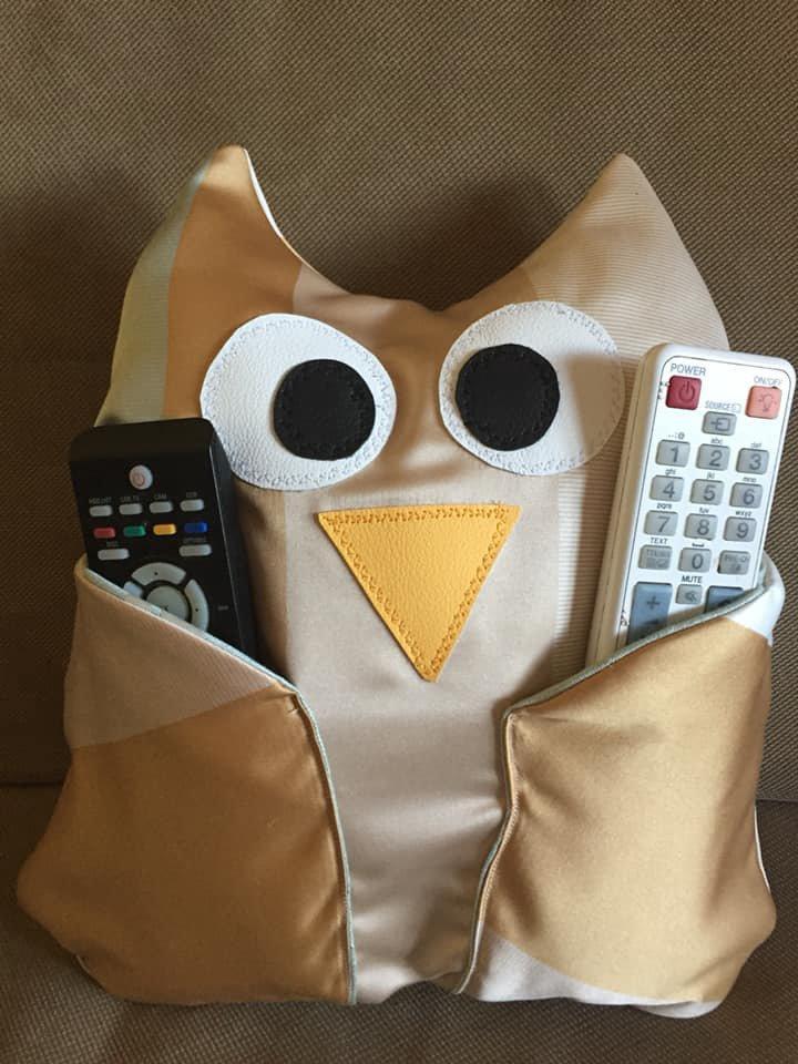 "Cuscino porta telecomando owl ""guffo"""
