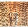 Borsa Trapuntata in pelle marrone chiusura con scatto stile a mano
