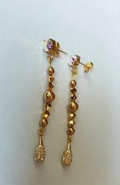 Orecchini pendenti Total Gold