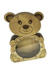 Salvadanaio orsetto in legno personalizzabile