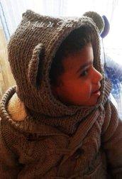 Cappello bambini orsetto lupetto orecchie animali