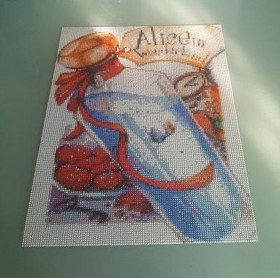"""Quadro mosaico con cornice a giorno Alice """"bevimi"""" 30x40"""