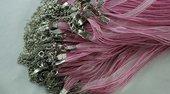 1 pz collana catena organza rosa con fermaglio 45 mm