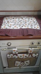 IN SALDO - Set cucina, copriforno e fornelli foglie d'autunno