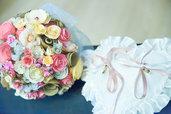 Bouquet da sposa realizzato con fiori di carta.(campione, foto esempio)