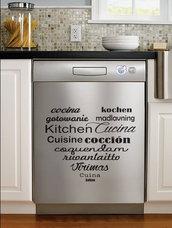 Adesivo Cucina in tutte le lingue del mondo formato grande