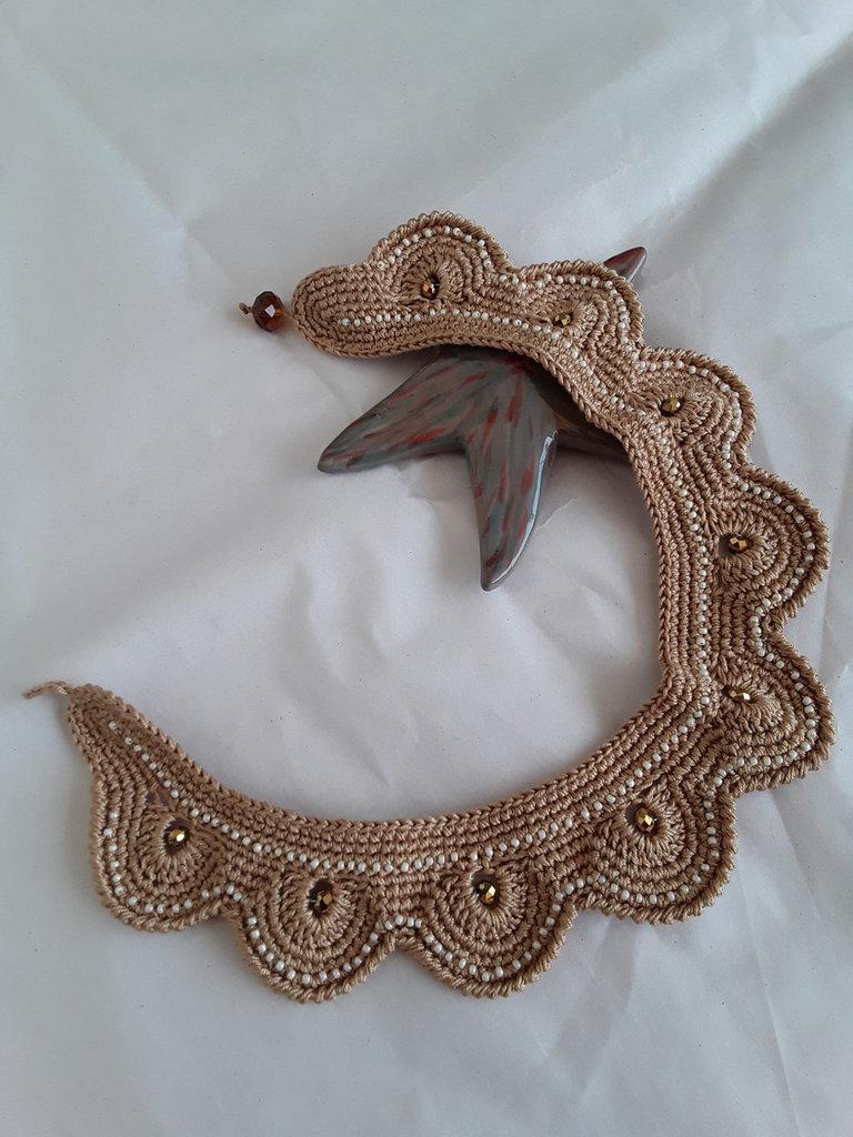 Collana Adriana realizzata all'uncinetto