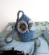 Segnalibro con la civetta gufo amigurumi - crochet uncinetto