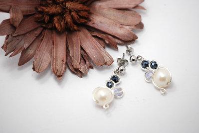 orecchini con perle di fiume, orecchini da sposa