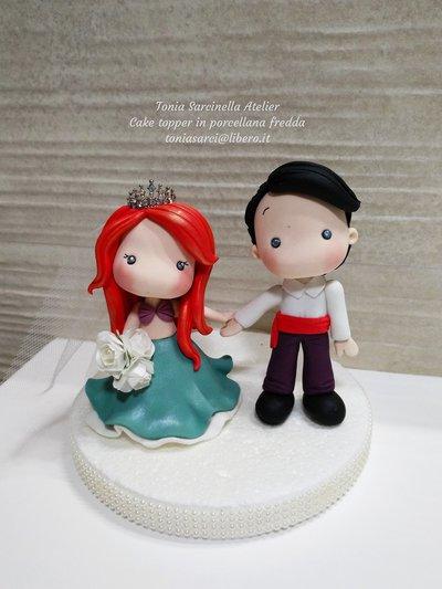 Cake topper in porcellana fredda