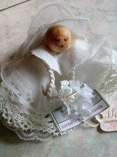 Bambola sacchetto lavanda fatto e decorato a mano