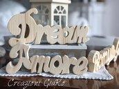 Scritte in legno personalizzate