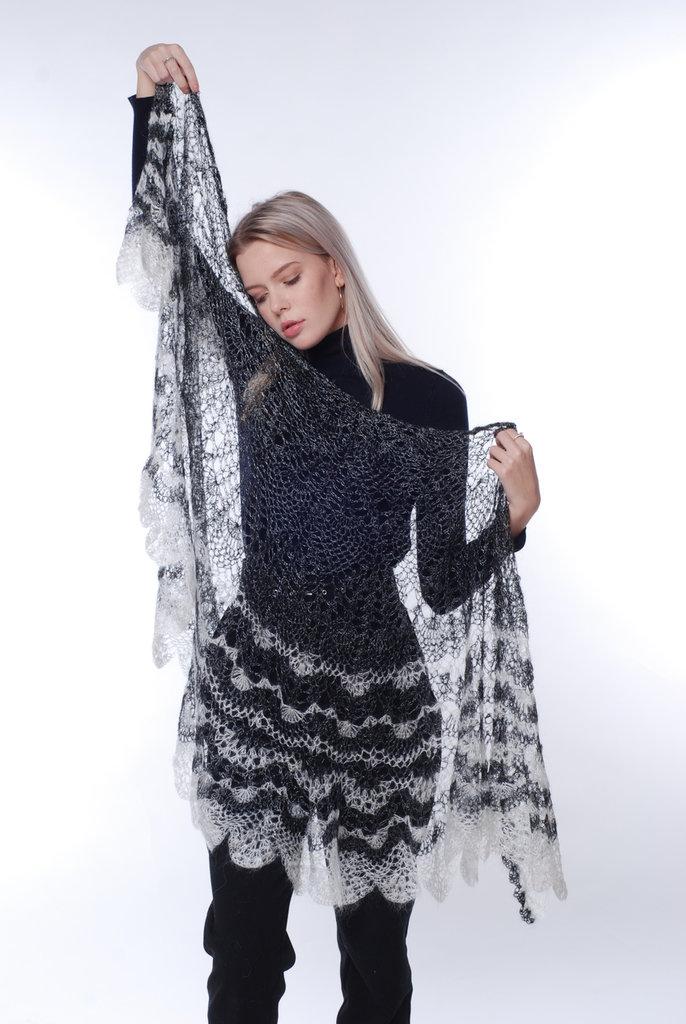 mantellina, caldo, elegante, mantellina di lana capra, mantellina uncinetto, mantello argento, scialle, scialle caldo, scialle uncinetto, scialle fatto a mano