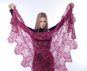 mantellina, stola lana, caldo, elegante mantellina di lana capra, mantellina uncinetto, mantello, scialle, scialle caldo, scialle uncinetto, scialle fatto a mano
