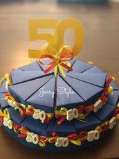 Torta di scatoline portaconfetti matrimonio compleanno laurea comunione 50 anni 18 anno