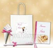 Wedding bag libretto messa ventaglio cono porta riso  personalizzato matrimonio nozze wedding