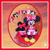 Cake topper fimo minnie mouse