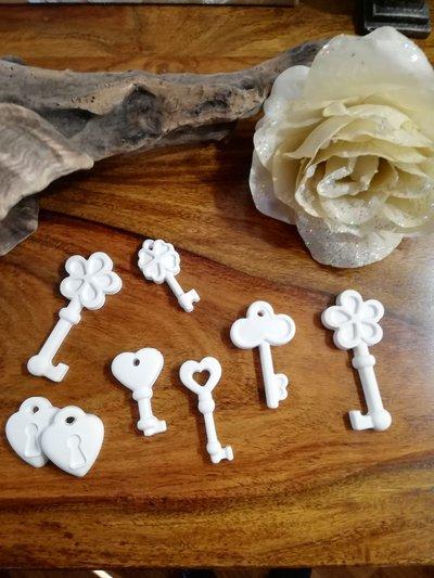 chiavi in gesso ceramico, idee creative, bomboniere