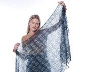 stola lana, velo di lana, jacquard, scialle sottile, scialle, scielle di lana, scialle caldo, aggiornato, mantellina, lana di capra, colore marengo, sciarpa, un regalo per lei