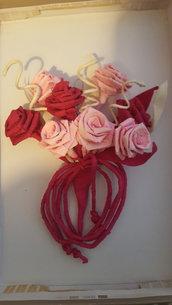 Bouquet rose in carta crespa