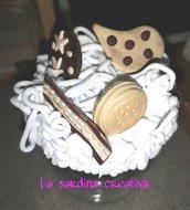 Barattolo per biscotti con tappo decorato
