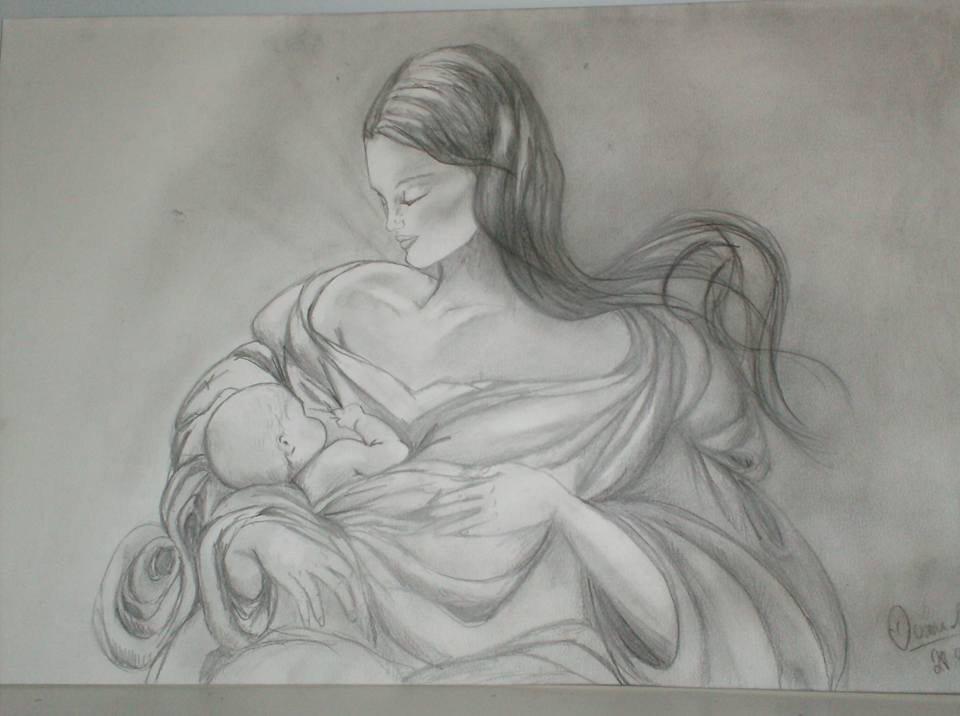 Disegno madre figlio