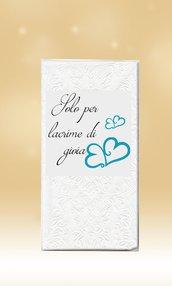 50 Fazzoletti Personalizzati Lacrime di Gioia Matrimonio Wedding