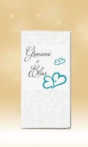 100 Fazzoletti Personalizzati Lacrime di Gioia Matrimonio Wedding
