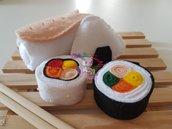 sushi in feltro- kit gioco feltro sushi