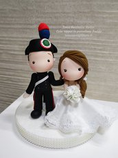 Cake topper in porcellana fredda