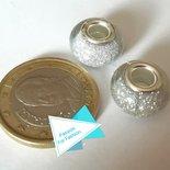 Perla 14 mm glitter bianco