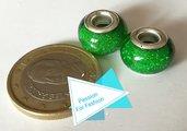Perla 14 mm glitter verde
