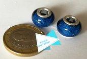 Perla 14 mm glitter blu
