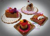 piccola pasticceria in feltro- kit gioco feltro pasticcini