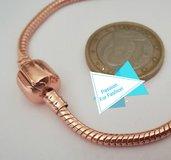 Bracciale in metallo color oro rosa 19 cm