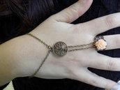 Bracciale anello modello schiava, albero della vita, in stile Vintage, color bronzo e rosa, spedizione gratuita