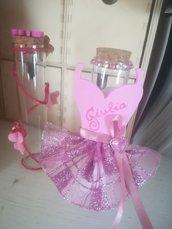 Provette vetro decoro ballerina personalizzabile con confetti