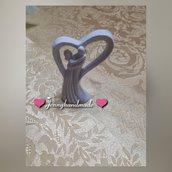 Bomboniera Albero a forma di cuore con sposi
