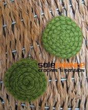 Orecchini girella verde