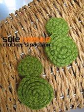 Orecchini doppia girella verde