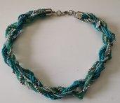 Collana e bracciale di perline turchese