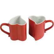 "Tazze ""Love"" in ceramica - set n. 2 tazze confezionate in scatola"